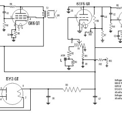 Guitar Parts Diagram Ritetemp 8022 Thermostat Wiring Stereo Tube Amplifier 4 Watts - Circuit Schematic