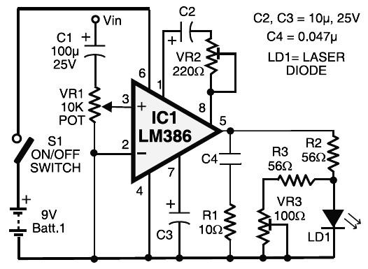 laser transmitter receiver circuit