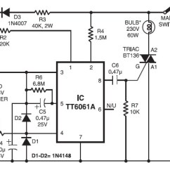 Car Ac Schematic Diagram Wiring For Stereo Toyota 220v Lamp Touch Dimmer - Circuit