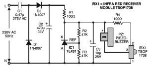 Remote Control Tester  Circuit Schematic
