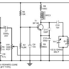 Car Computer Network Diagram 120v Motor Wiring Shortwave (sw) Transmitter With Ic Bel1895 - Circuit Schematic