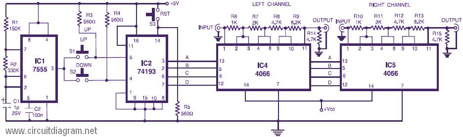 led tube light wiring diagram plot for the maze runner stereo digital volume control - circuit schematic