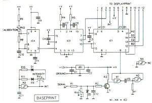 Digital Tachometer  RPM Meter  Circuit Schematic