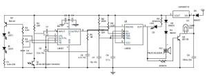 Car Parking Guard based IR Sensor  Circuit Schematic