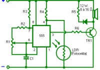 Light Alarm Circuit with Timer 555