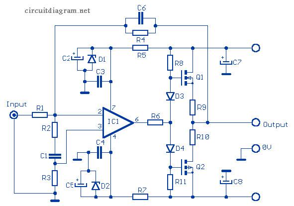 microcontroller based inverter circuit diagram dodge ram 1500 fuse box 12w audio amplifier mosfet 2sk135 / 2sj50 - schematic