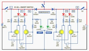 Bicycle Directional Lights Indicator Circuit