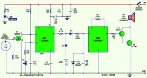 Smart Vibration Sensor Alarm  Circuit Schematic