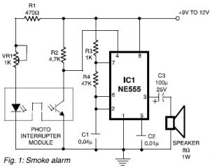 Simple Smoke Alarm using Photo Interrupter Module