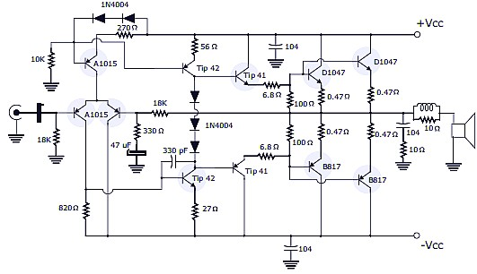 1000w Audio Amplifier Circuit Diagrams 400w Rms Stereo Power Amplifier Schematic Amp Pcb Design