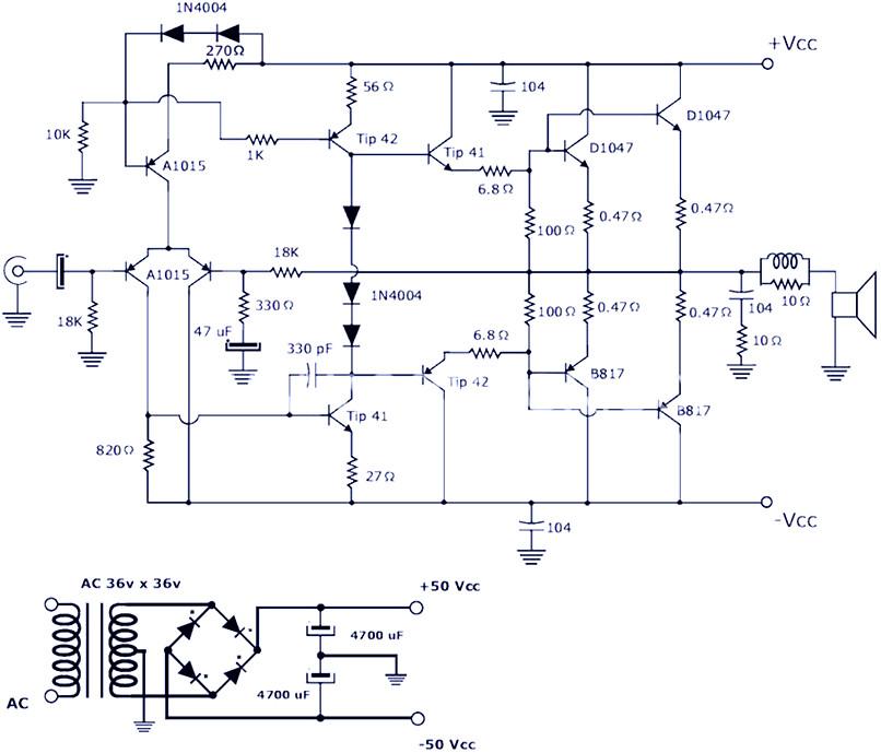 Ab Microcontroller Wiring Diagram 200w Power Amplifier Schematic Diagram Amp Pcb Design