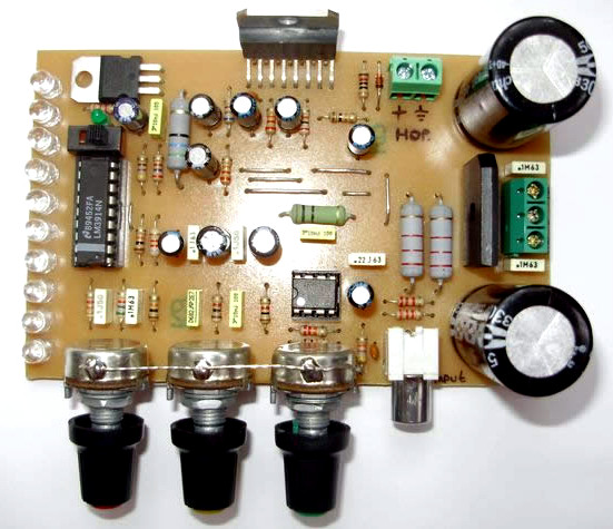 Tone Control Circuit Using Lm1036