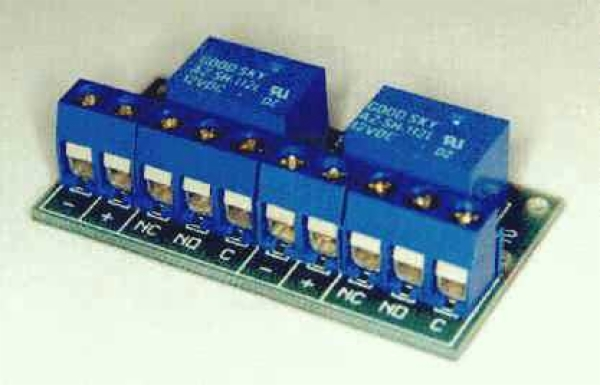 Two PCB-Mounted Miniature 1A Relay Board Kit