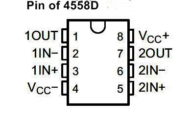 4558 Subwoofer High Bass Booster Circuit diagram for music