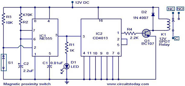 12 Volt Starter Relay Wiring Diagrams Magnetic Proximity Switch Electronic Circuits And
