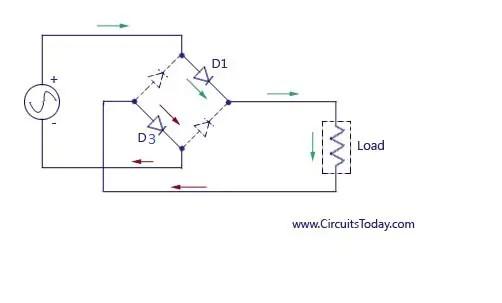 Full Wave Rectifier-Bridge Rectifier-Circuit Diagram With
