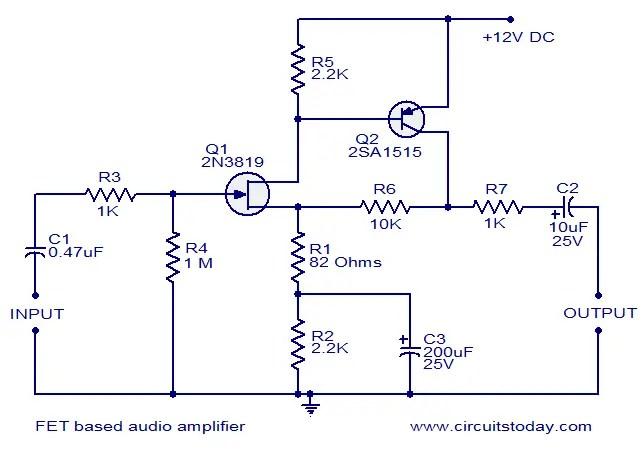 FET Based Audio Preamplifier.