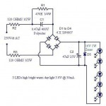 10w Solar Panel Wiring Diagram A Simple Led Lamp Circuit From Scrap Uses 5 Led And Takes
