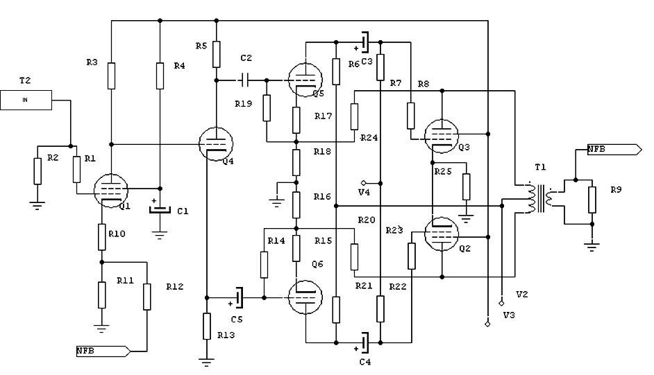 100 W Audio Valve Amplifier Circuit » CircuitsZone.com