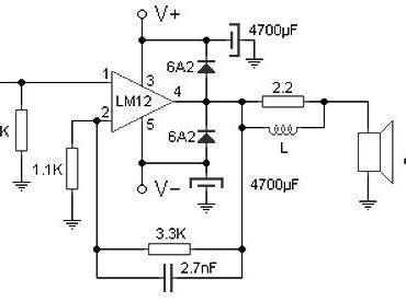 100w audio amplifier circuit based M12CLK ic