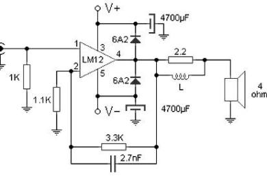 100w audio amplifier circuit based M12CLK ic