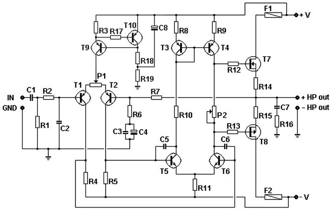 100w basic mosfet amplifier circuit
