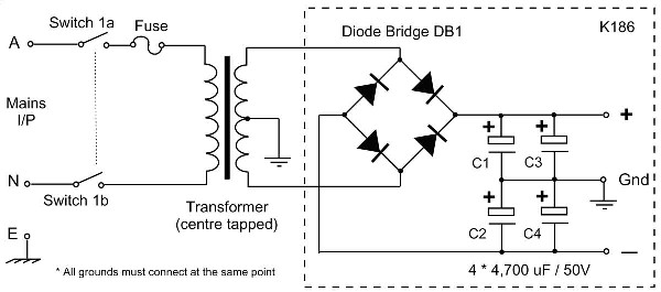 Symmetrical-Dual-Polarity-Power-Supply-Circuit