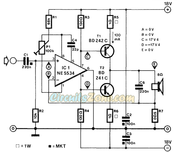 Current Corrected Audio Amplifier Circuits » Circuits Zone