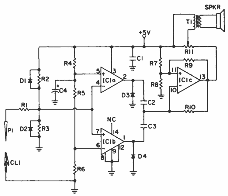 ic-audible-logic-probe-circuit-based-LM339 » CircuitsZone.com