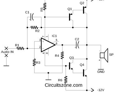 12 watt amplifier based transistors