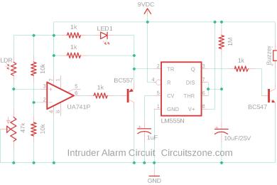intruder alarm circuit