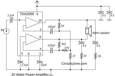 25 watt power amplifier