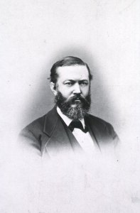 portrait of a man in a full beard and dark suit