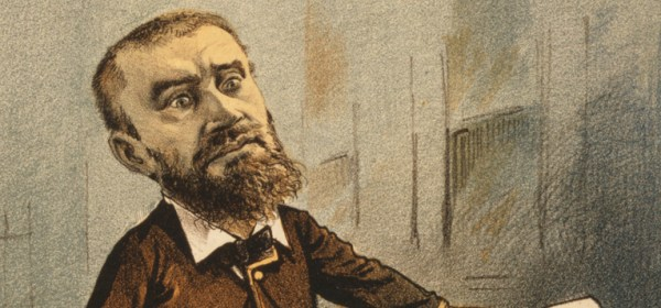 A cartoon of Guiteau the assassin.
