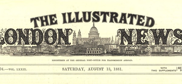 Banner of the Illustrated London News August 13, 1881