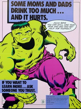 Hulk says you can still love your mom and dad and get help for yourself.