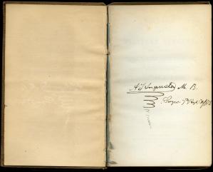 Augusta's handwritten inscription.