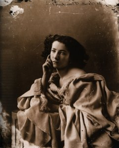 A posed photograph of a young Sarah Bernhardt.