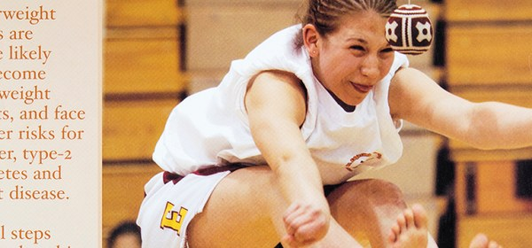 Poster of Alaska Native teenager jumping in a gymnasium