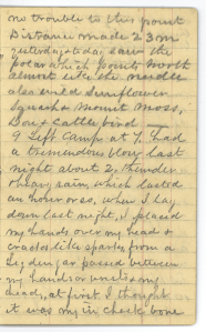 A page from a diary hadwritten in pencil dated June 9.
