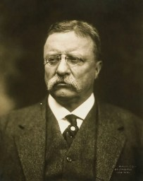 Theodore Roosevelt, bust portrait, facing front.