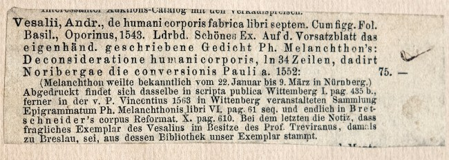 Printed German text from a booksellers catalog.