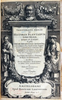 An ornate title page with imposing human figures and garlands of plants and fruit.