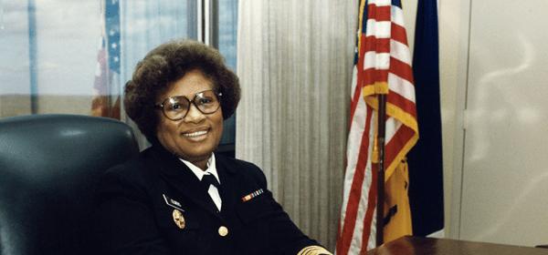 Surgeon General Joycelyn Elders at her desk.
