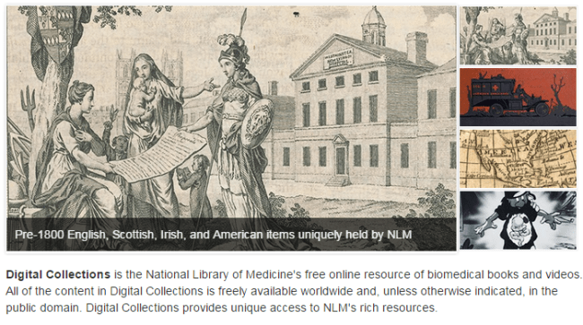 Feature from the NLM Digital Collections homepage.
