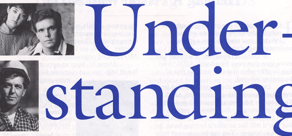 Detail from the cover of the Understanding AIDS brochure.