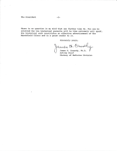 Page two of a typwritten letter signed by James H. Cassedy.