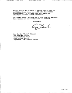 Copy of page 2 of a typwritten letter on White House letterhead signed George Bush.
