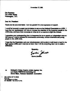 A copy of a signed typwritten letter dated November 15, 1991