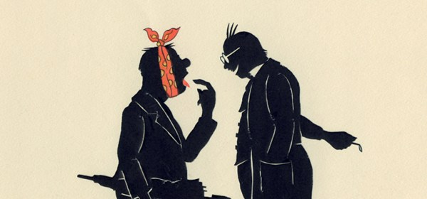 Image of a man with a toothache pointing out the tooth to a dentist.